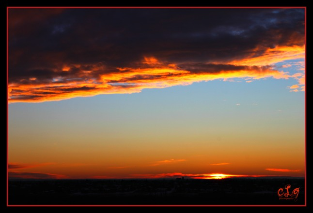 Amazing sunset over Battleford, SK, Canada, one of my photographs from when I was just starting photography.