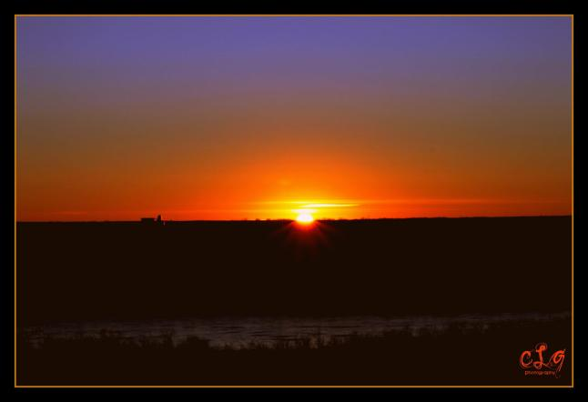 My photography - Sunset over Battleford