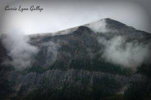 Lake louise mountains - vingette w sign