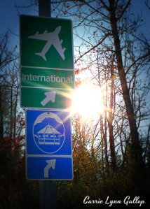 International - lomo w sign