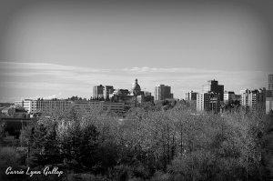 Edmonton - b & w w sign